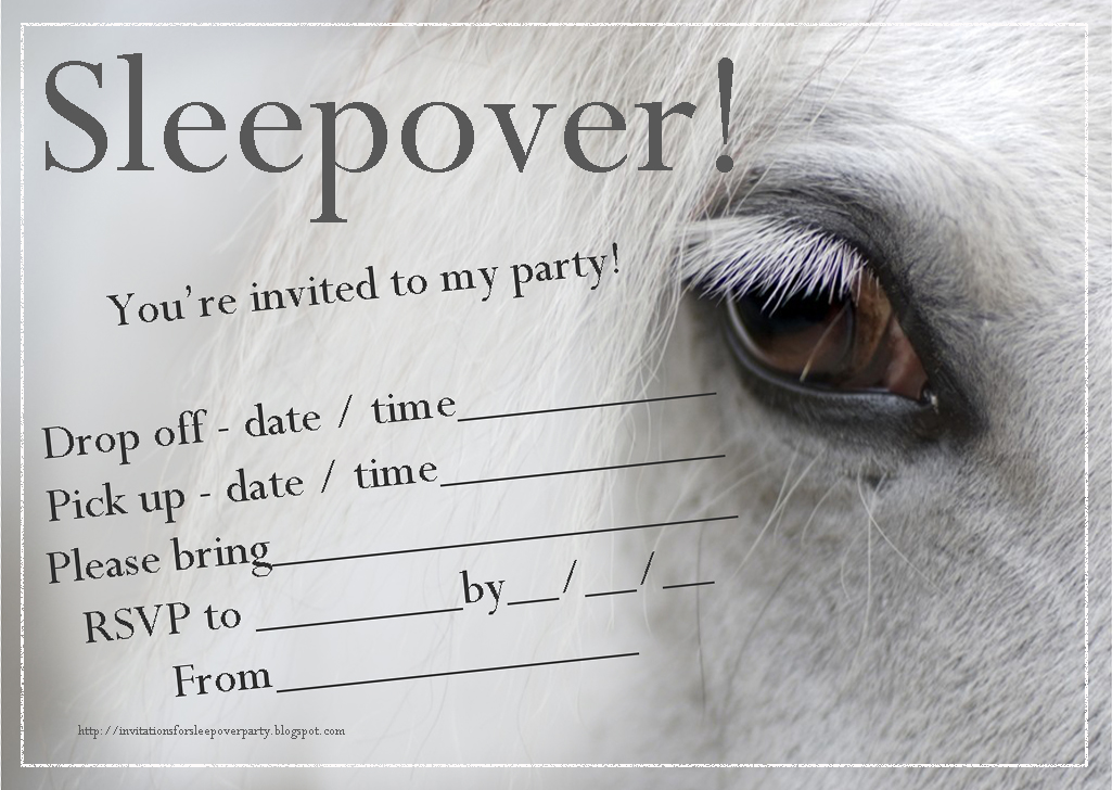 Stupendous image regarding horse birthday invitations free printable