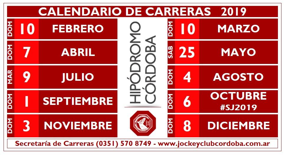 HIP CBA CALENDARIO 2019