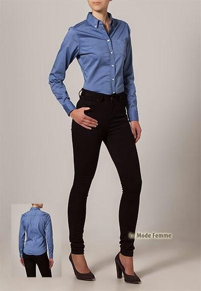 Chemisier bleu Gant totalement féminin