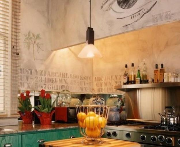 ... parete idee soggiorno e cucina pareti colorate rosso pompeiano lampade