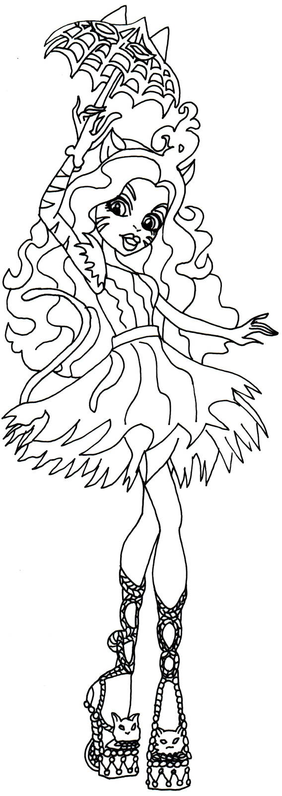 toralei stripe freak du chic monster high coloring page