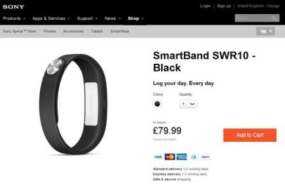 Sony SmartBand SWR10 Kini Dijual di Sony Mobile Store