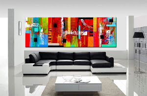 "Abstract Painting ""A Vibrant World"" by Dora Woodrum"