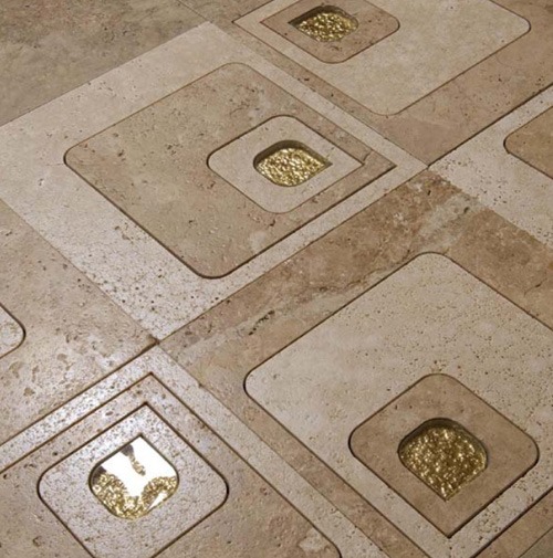 Gold Accent Tile by Cottoveneto - Home Decorating Flooring