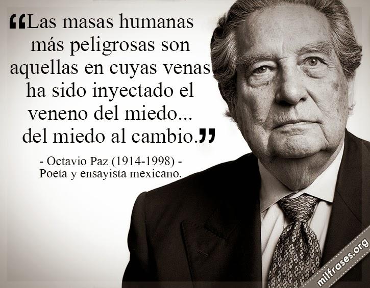 Frases y libros de Octavio Paz 1914-1998. Poeta y ensayista mexicano. centenario