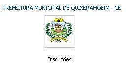 concurso da Prefeitura de Quixeramobim (CE) 2012