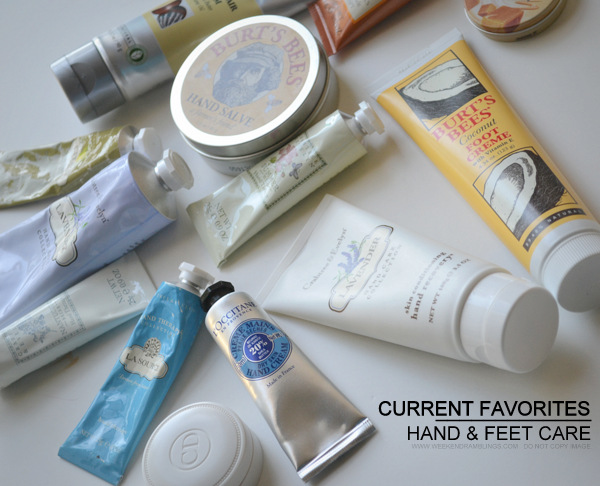 Current Favorites Skincare for Hands and Feet