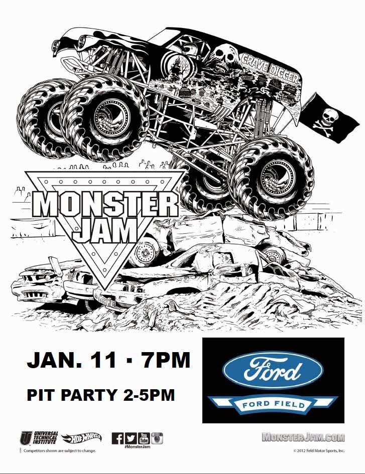 monster jam 2013 coloring pages - photo#9