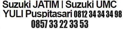 Suzuki JATIM | Suzuki UMC YULI Puspitasari 081234343498/085733223353