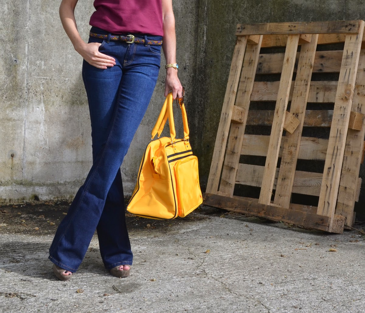 Rock On Ruby Retro Bag and Flares