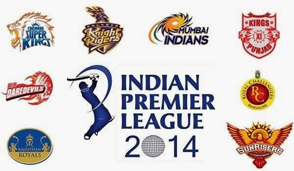 IPL 2014 logo with 8 teams