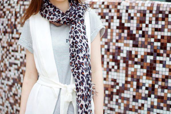 Stripes & leopard outfit