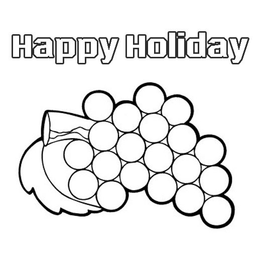 fruits coloring pages  u0026quot happy holidays u0026quot