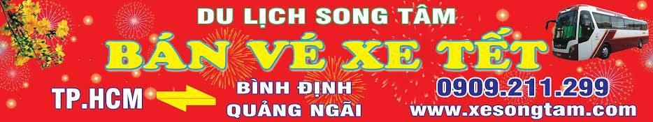 Du lịch Song Tâm cho thuê xe , bán vé xe tết 2017 call 0909 211 299