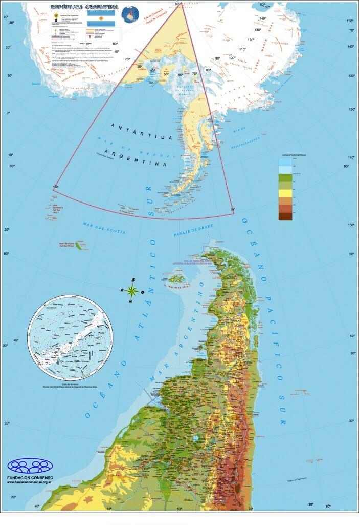 Tierra Del Fuego Auspiciará Divulgación Del Mapa De La República - Argentina map tierra del fuego