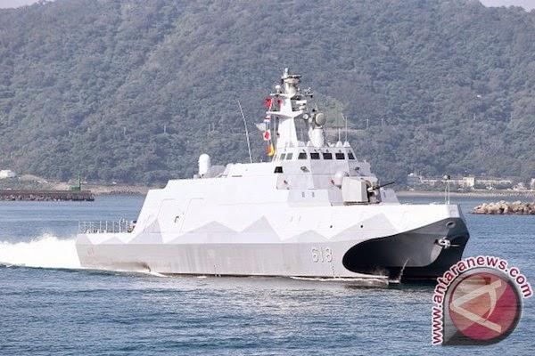 Taiwan luncurkan korvet peluru kendali berteknologi stealth pertama