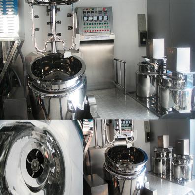 stainless steel vacuum emulsifier in cosmetics&food&pharma industry