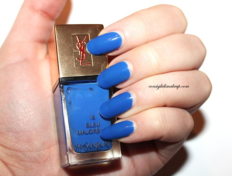 la laque couture 18 bleu majorelle yves saint laurent