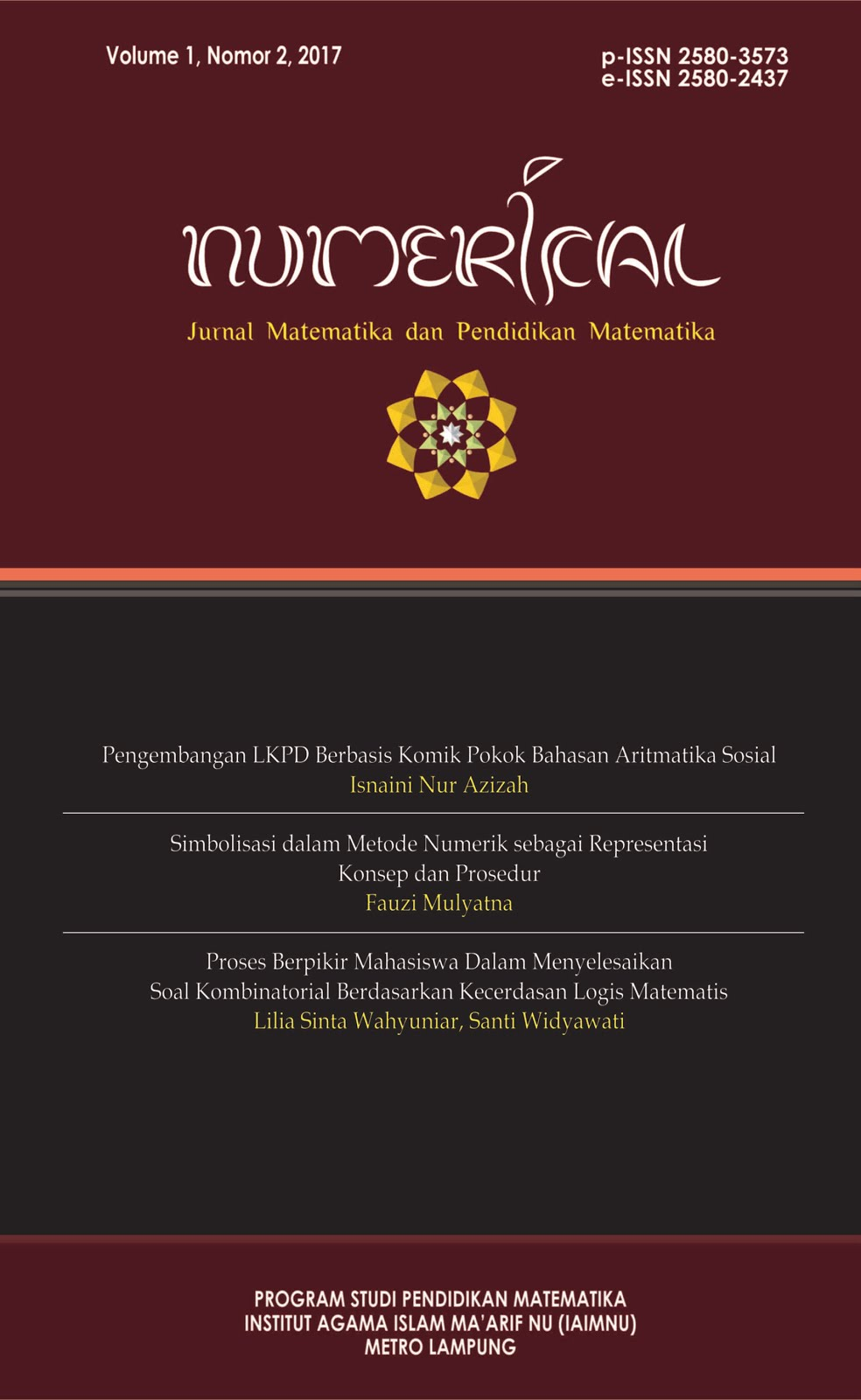 NUEMRICAL JURNAL MATEMATIKA