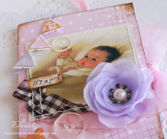 самодельная открытка на рождение ребенка