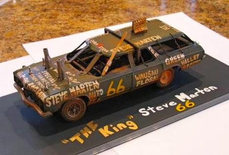 how to make a demolition derby model car