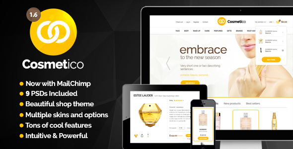 Download ThemeForest Cosmetico - Responsive eCommerce WordPress Theme for free.