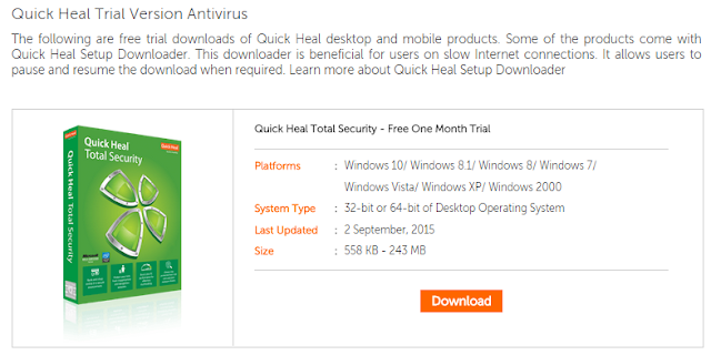 Part 1 how to use unlimited free quick heal antivirus with trial step 2 activate your trial quick heal version by your email ccuart