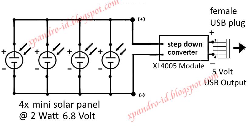 praktek membuat solar charger 4 watt