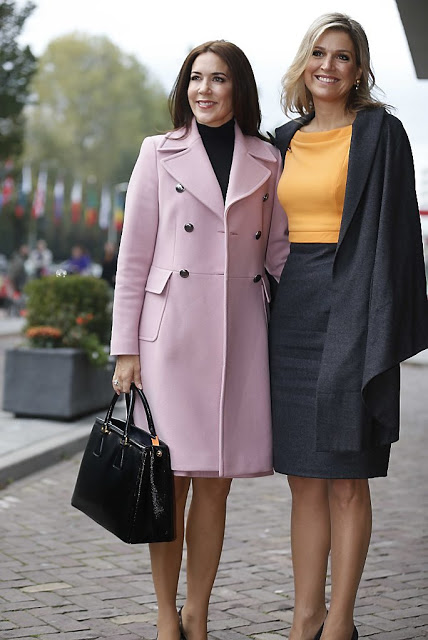 Queen Maxima And Crown Princess Mary Visited The Hague