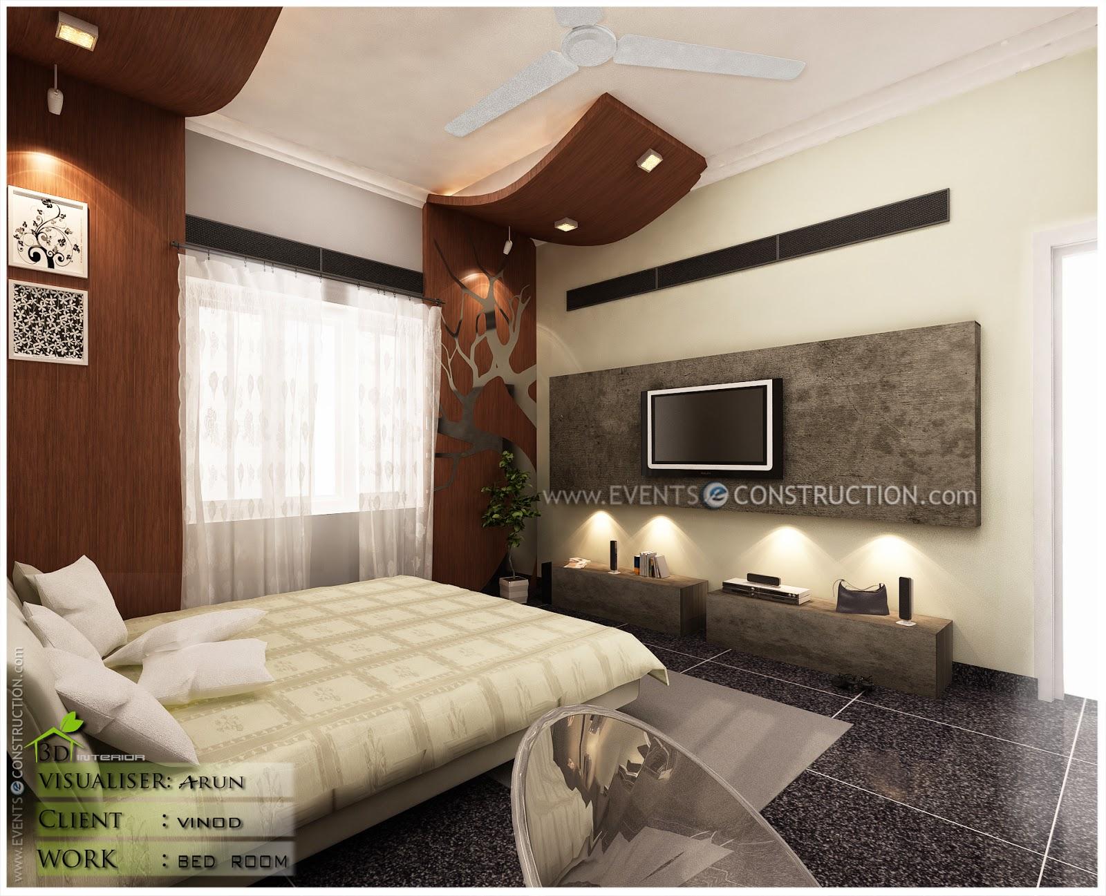 Evens construction pvt ltd kerala bedroom interior designs for Villa interior designers ltd nairobi kenya