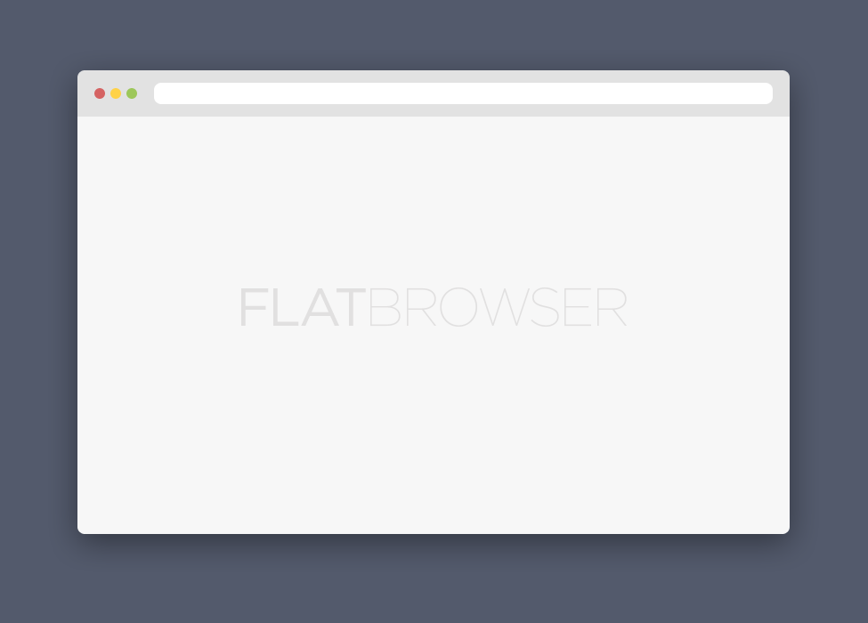 Free PSD Flat Browser