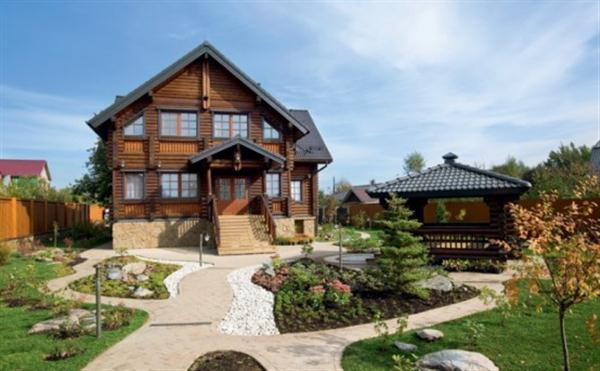 here are gorgeous european wooden house design inspiration in russia three story mansion with a unique design is located near moscow russia - Russian House Design