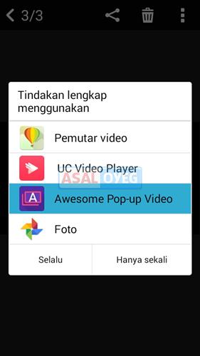 nonton video dengan pop-up window