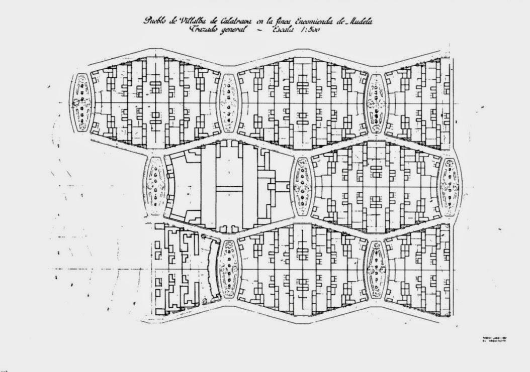 An lisis 2 villalba de calatrava viviendas para una - Distribucion casa alargada ...