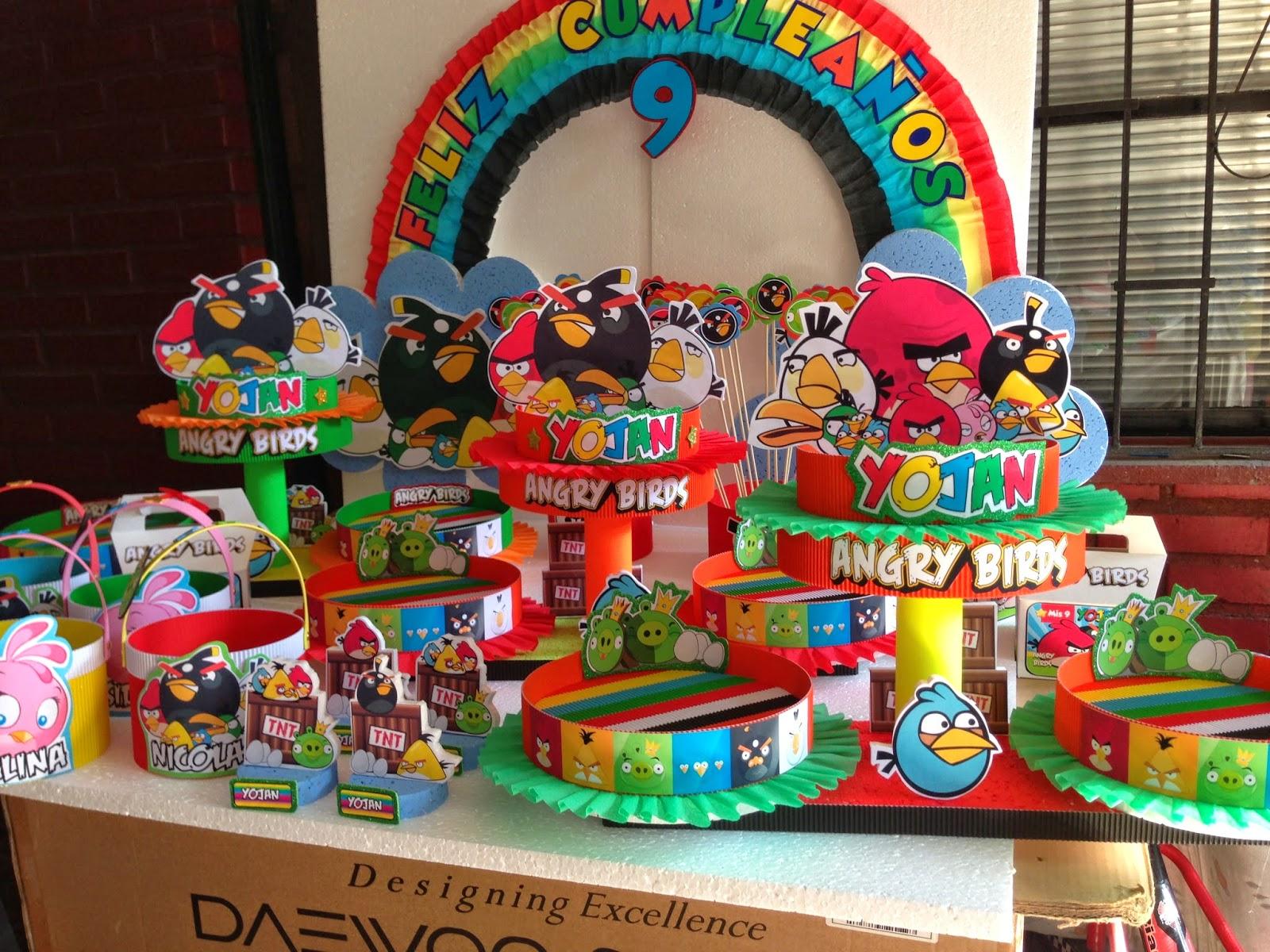 Decoraciones infantiles angry bird for Decoraciones infantiles