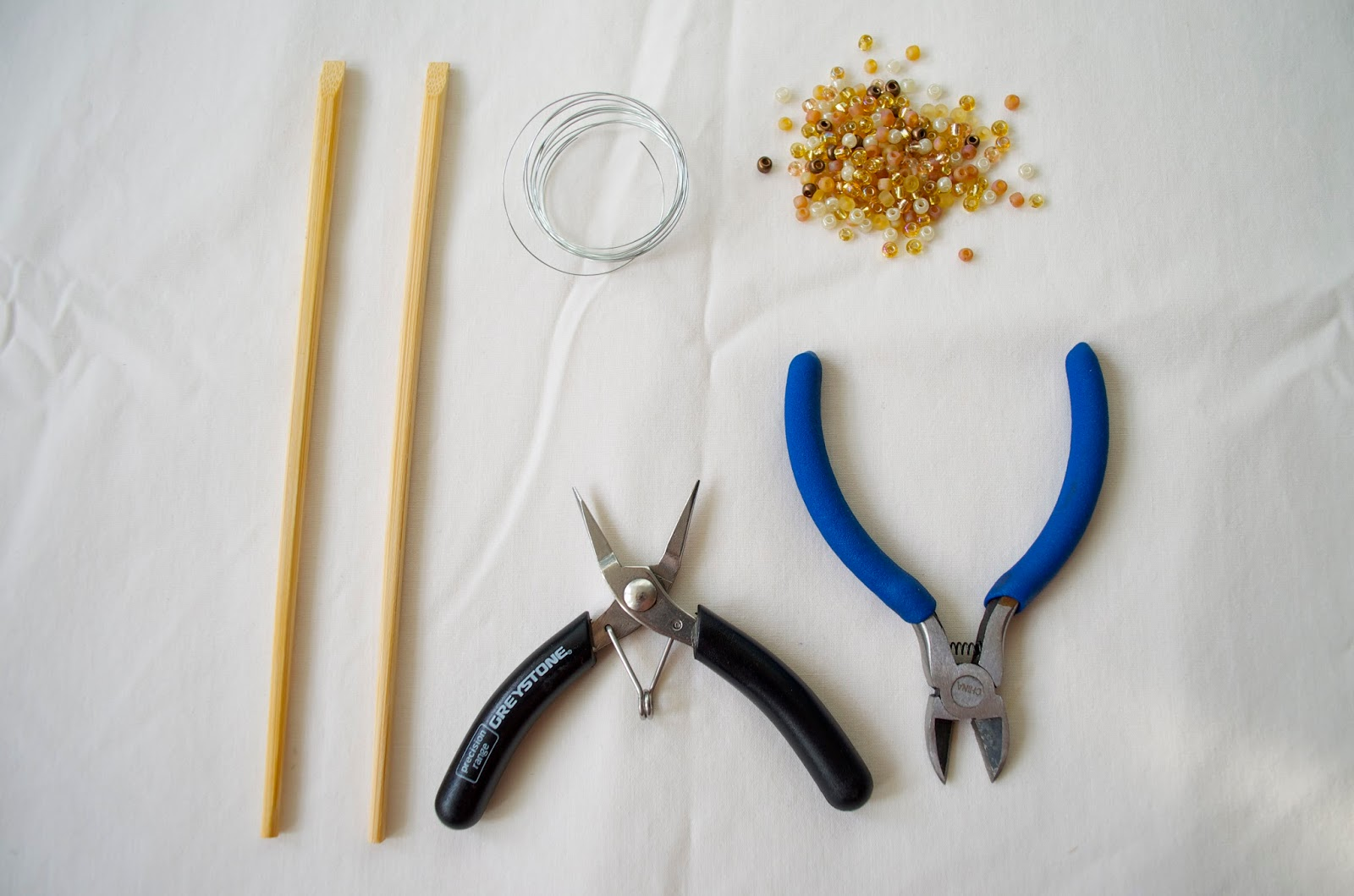 DIY hair chopstick supplies