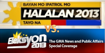 ABS-CBN vs. GMA May 2013 election coverage - Halalan 2013 vs. Eleksyon 2013