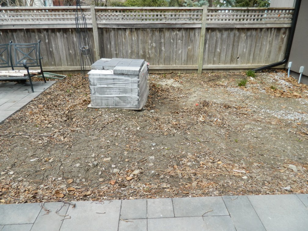 the danforth garden design before by Paul Jung Gardening Services Toronto