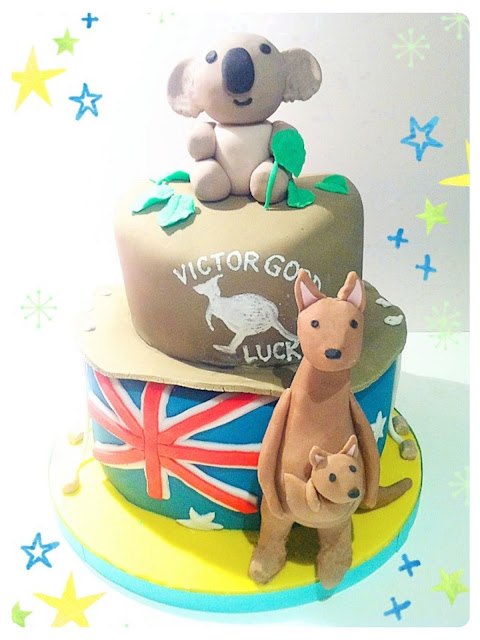 Cherie Kelly's Australian Koala Bear and Kangaroo Chocolate Mud Cake