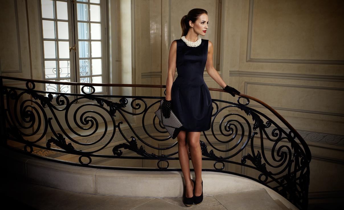 Collar para vestido negro y blanco