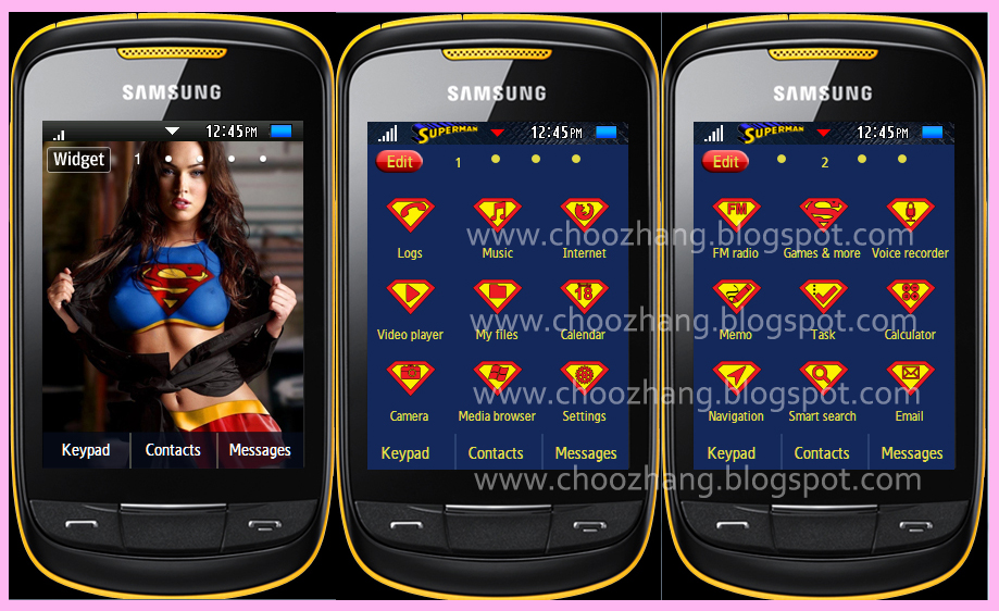 Samsung corby 2 themes smt free download