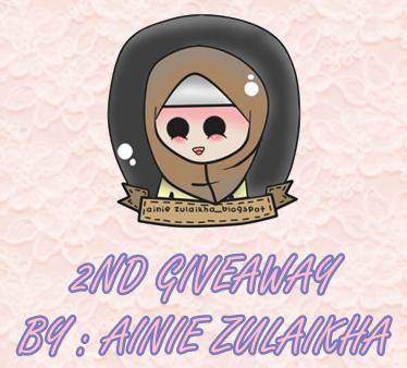http://ainiezulaikha.blogspot.com/2015/03/2nd-giveaway-by-ainie-zulaikha.html