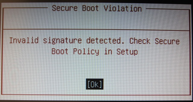 Secure Boot Violation