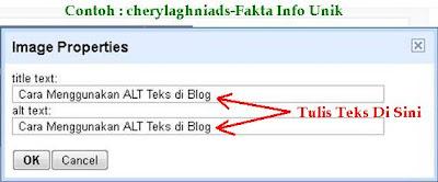 Cara Menggunakan ALT Teks di Blog