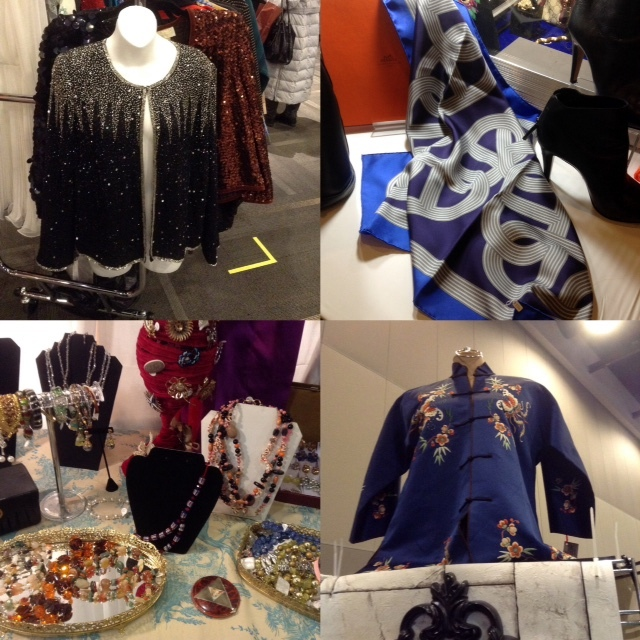 Vintage jackets, Hermes scarf and assorted jewellry, Ottawa Vintage Clothing Show