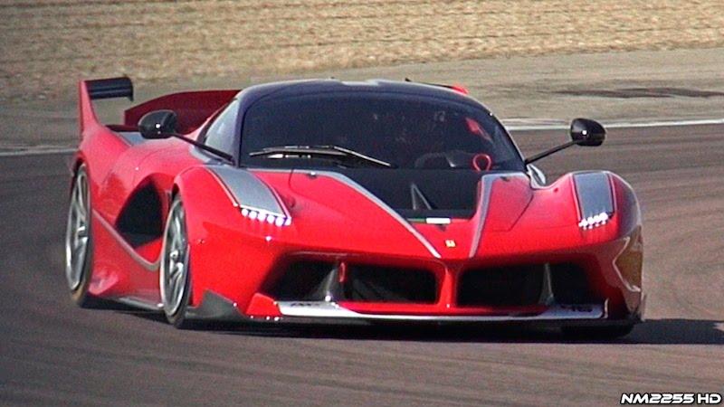 【動画】爆音でフェラーリのテストコースを疾走する「フェラーリFXX K」