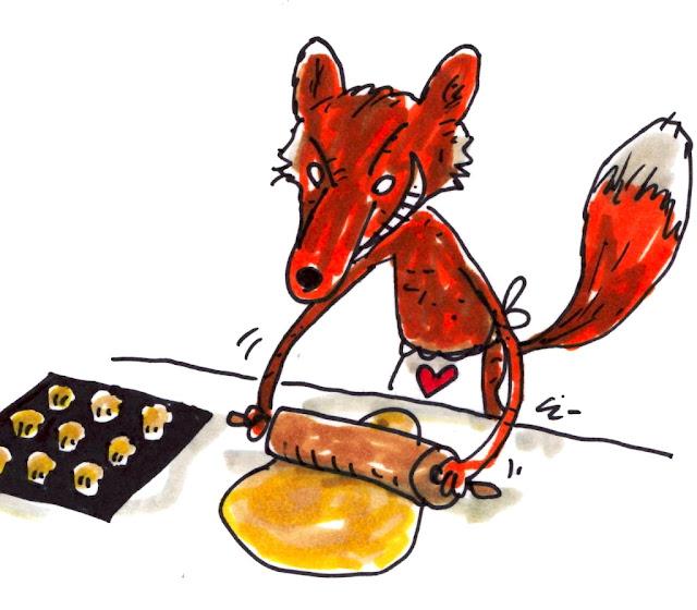 Rød ræv bager rævekager