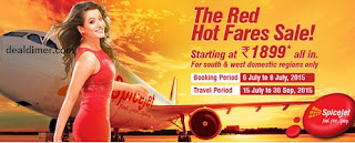 Spicejet Red Hot Fares Sale