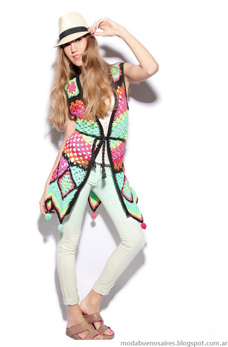 Chalecos 2013 moda verano 2013. Agostina Bianchi.