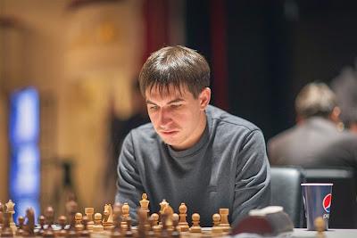 Le Grand Prix d'échecs de Bakou : Dmitry Andreikin - Photo © Anastasiya Karlovich